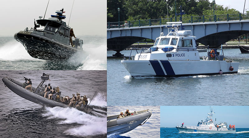 Law enforcement, speedboat, police stabilized thermal marine cameras. Night vision and navigation systems. Strixmarine.